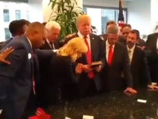 Bizarre prayer meeting over Donald Trump that felt more like an exorcism