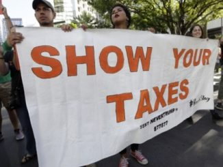 Donald Trump responds to Show us your Taxes March in his usual immature fashion