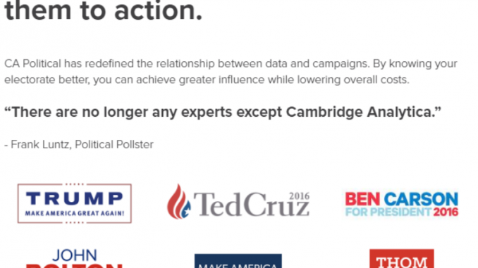 Trump Campaign officially linked to Russia via Wikileaks through Cambridge Analytica.