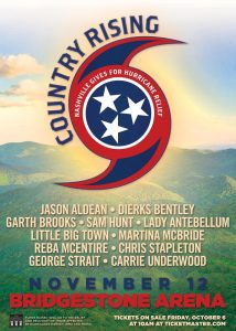 Huge Country Music Concert in Nashville for Hurricane Relief