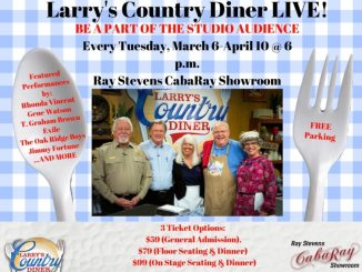 """Larry's Country Diner"" Announces Six-Week 'Streak' of TV Tapings/Shows at Ray Stevens CabaRay Showroom"