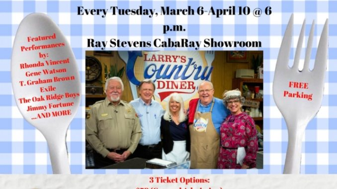 """""""Larry's Country Diner"""" Announces Six-Week 'Streak' of TV Tapings/Shows at Ray Stevens CabaRay Showroom"""